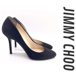 Jimmy Choo Vikki Suede Pump Black Heels 38.5 / 8.5